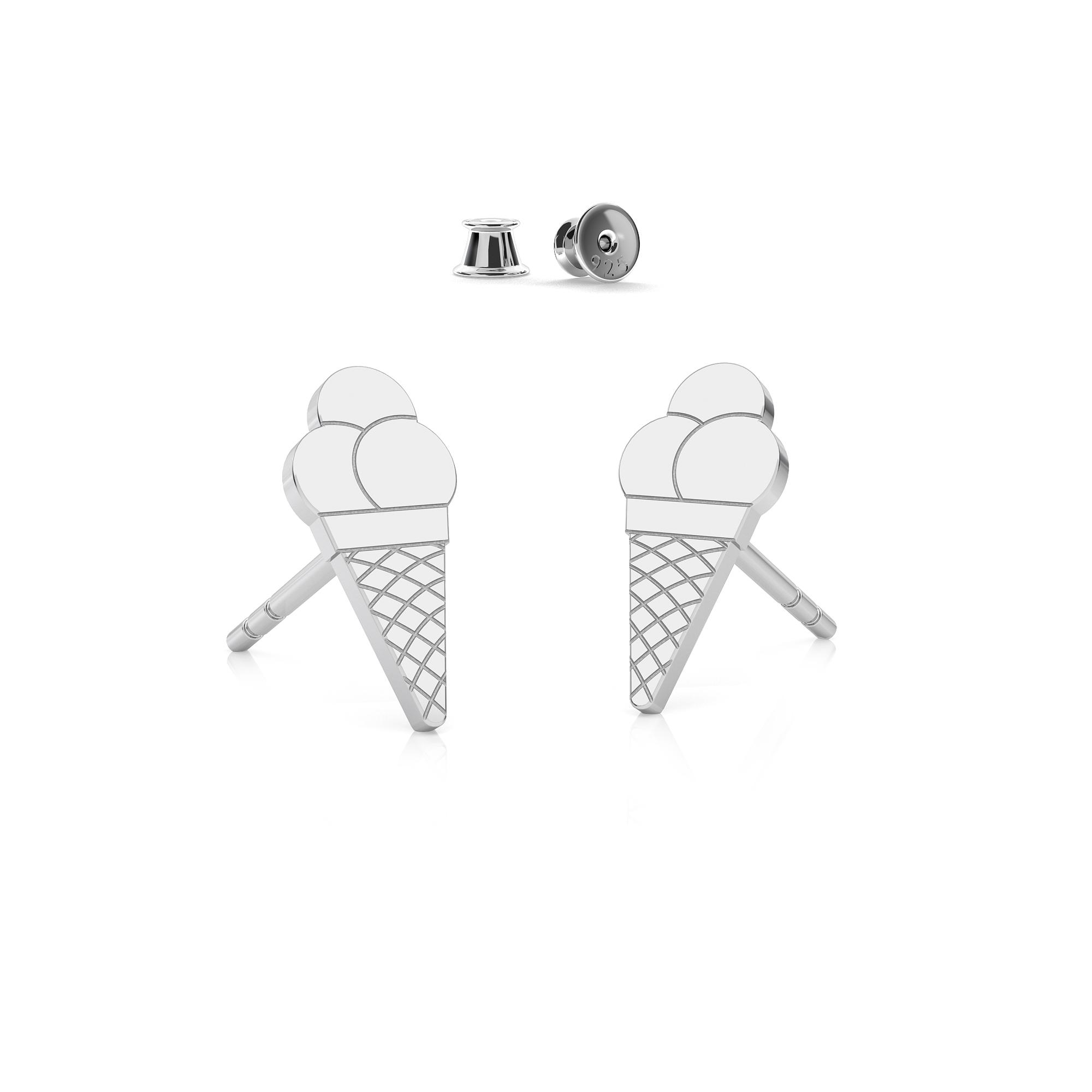 Earrings MON DÉFI satin sterling silver 925