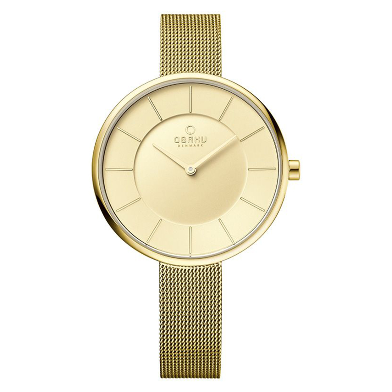 Zegarek Obaku V185LXGGMG - grawer na stalowej kopercie