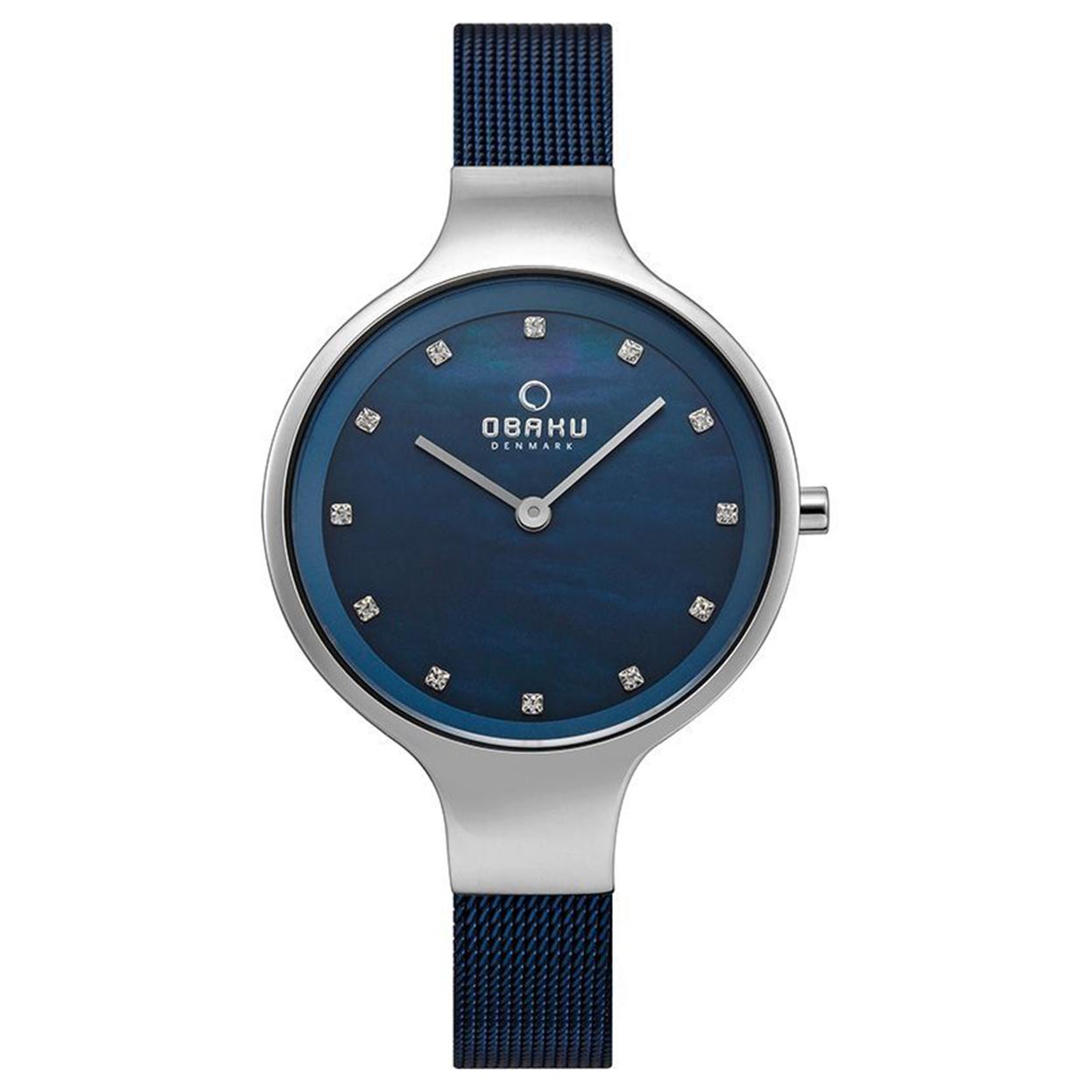 Zegarek Obaku V173LXCLML - grawer na stalowej kopercie