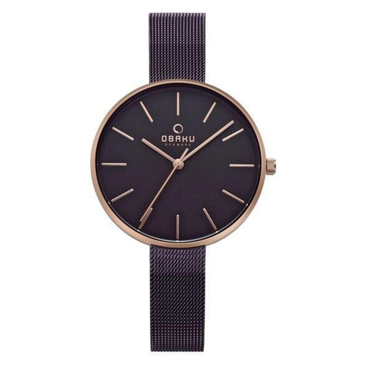 Zegarek Obaku V211LXVNMN - grawer na stalowej kopercie