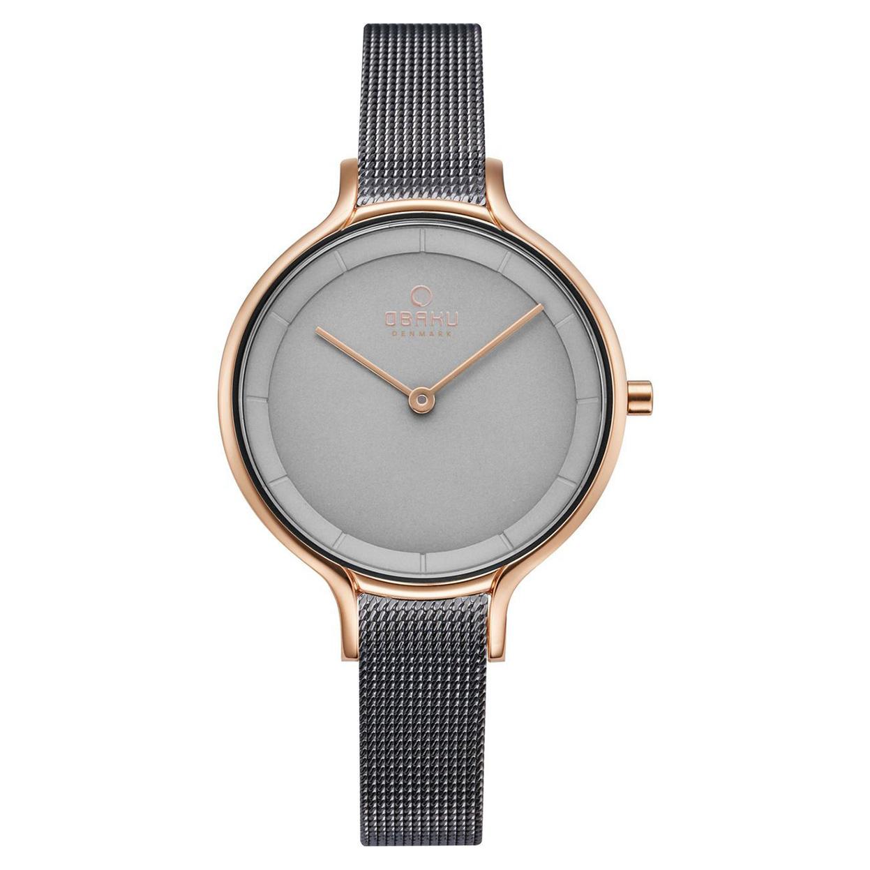 Zegarek Obaku V228LXVJMJ - grawer na stalowej kopercie