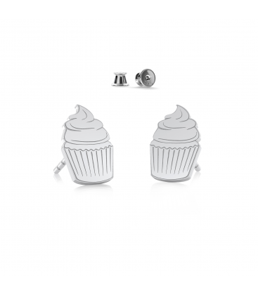 Cupcake earrings sterling silver 925 - ARÔME
