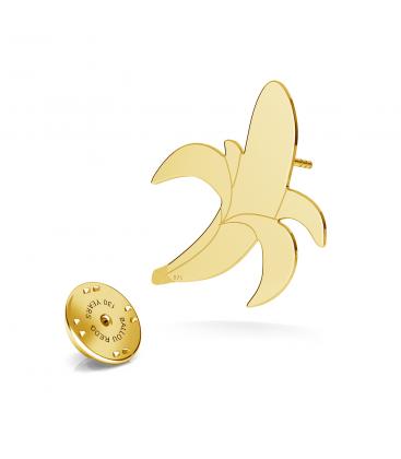 Plátano pin de solapa, plata 925 - ARÔME