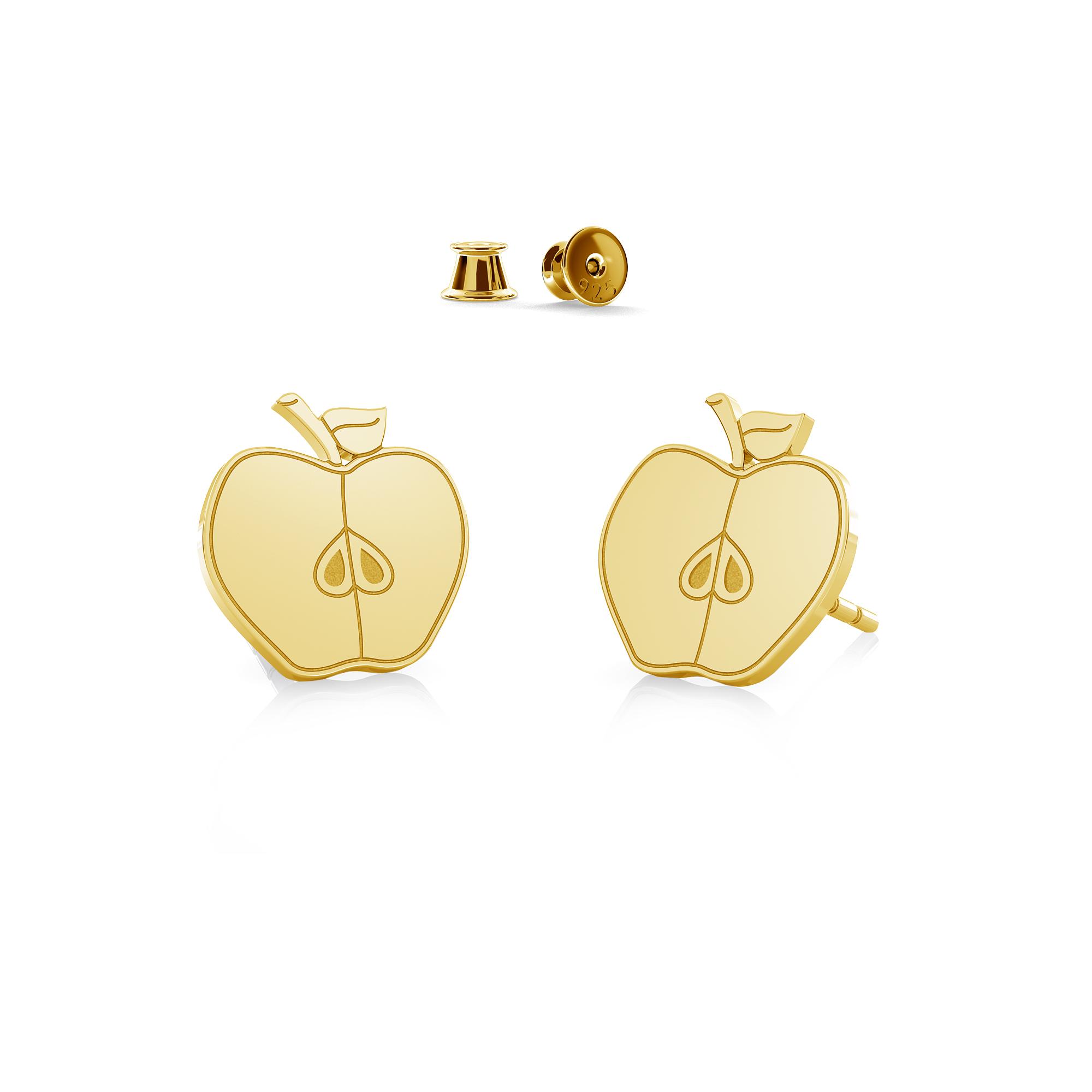 Chocolate earrings sterling silver 925 - ARÔME