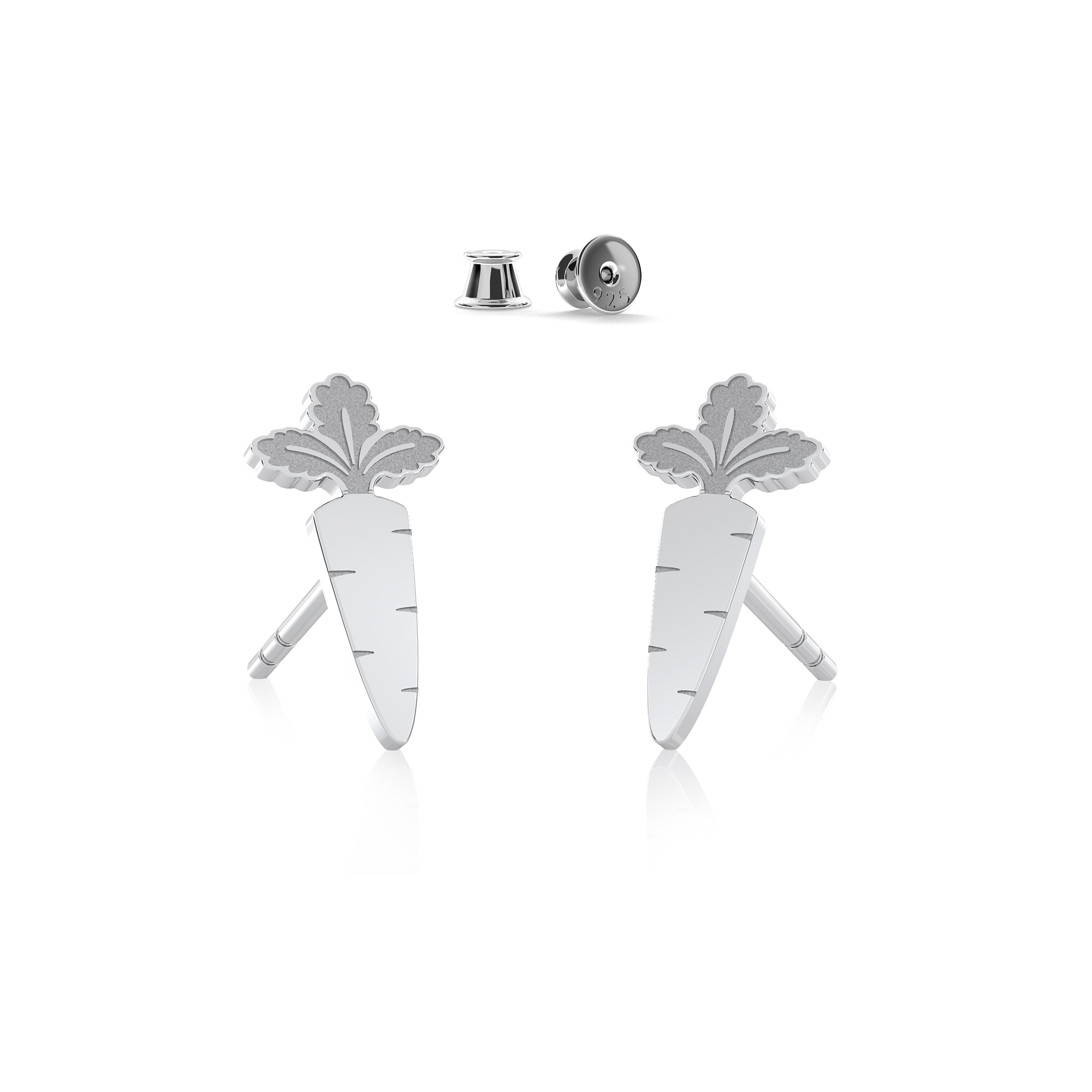 Apple earrings sterling silver 925 - ARÔME