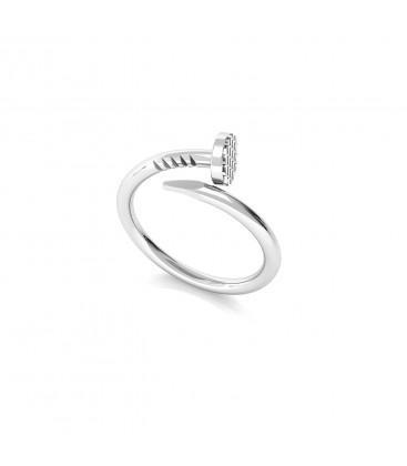 Srebrny pierścionek - gwóźdź, srebro 925