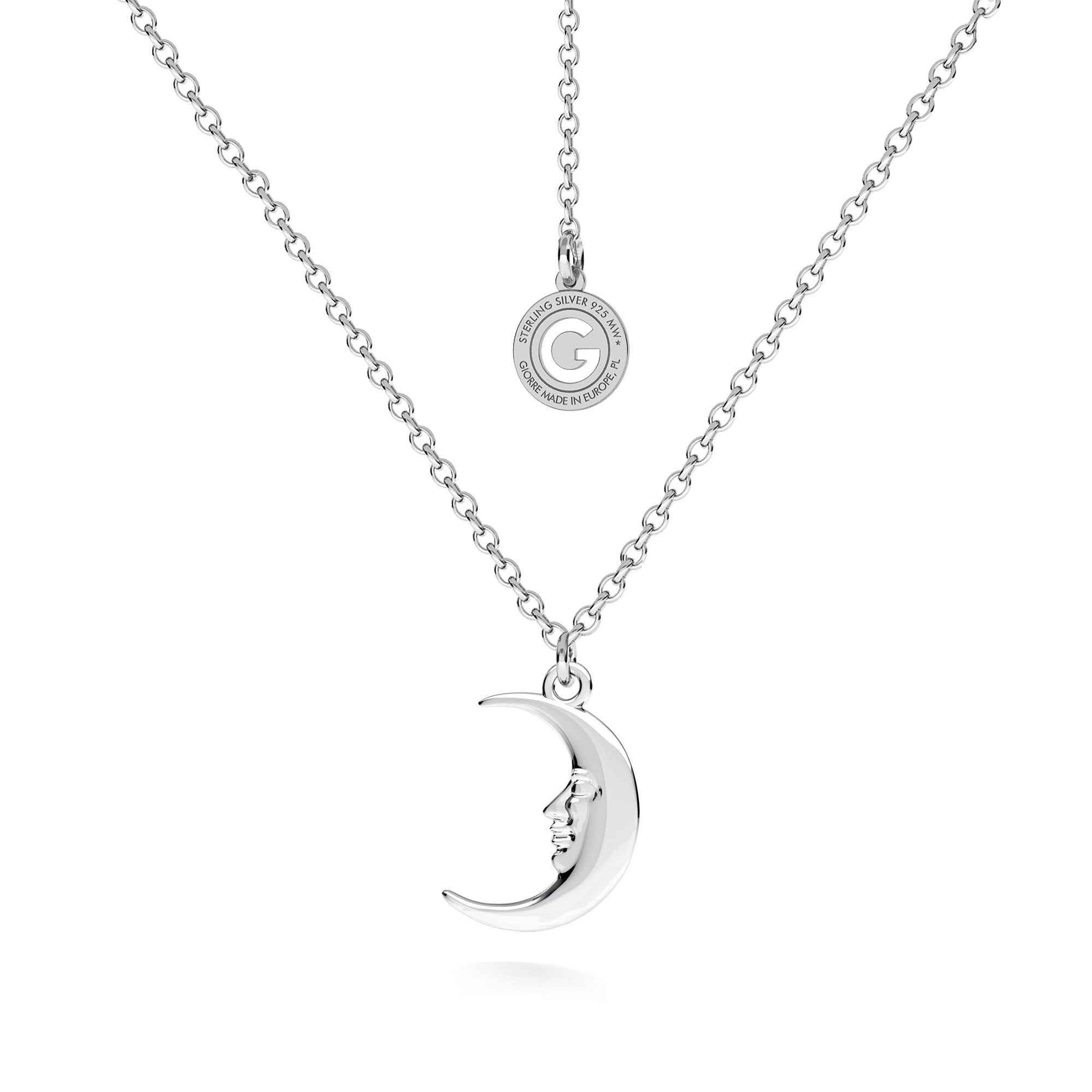 Kettlebell necklace sterling silver 925