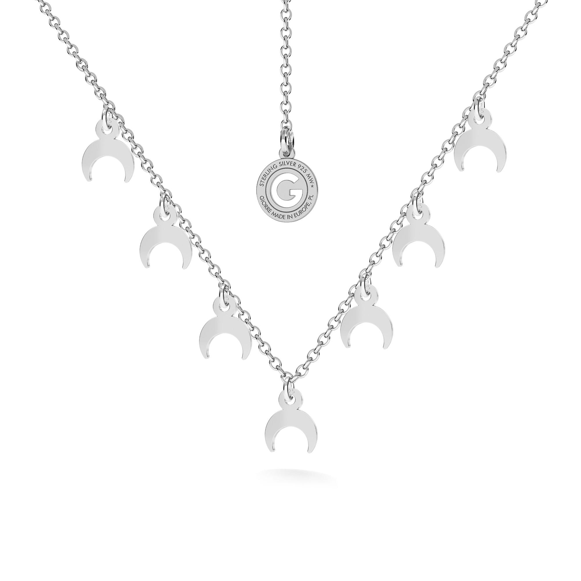 Srebrny naszyjnik KSIĘŻYCE 925