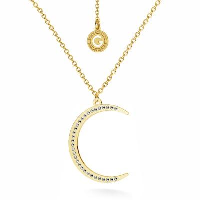 Star medallion swarovski crystals necklace silver 925