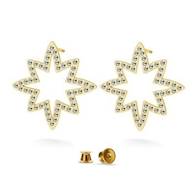 Kolczyki gwiazda wysadzana kryształami swarovski, srebro 925