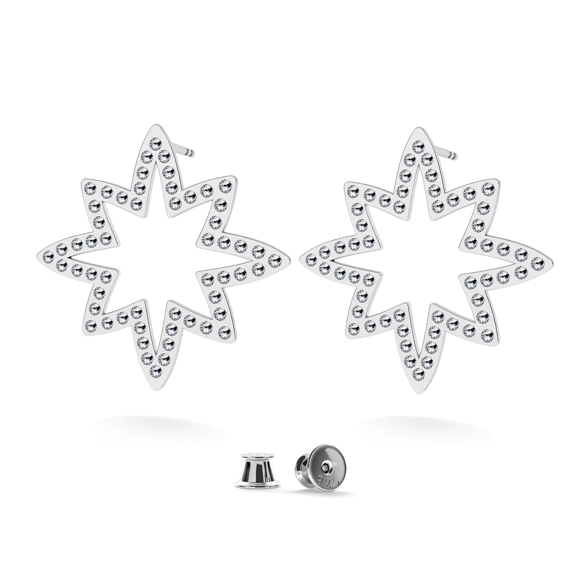 Estrella swarovski aretes plata 925