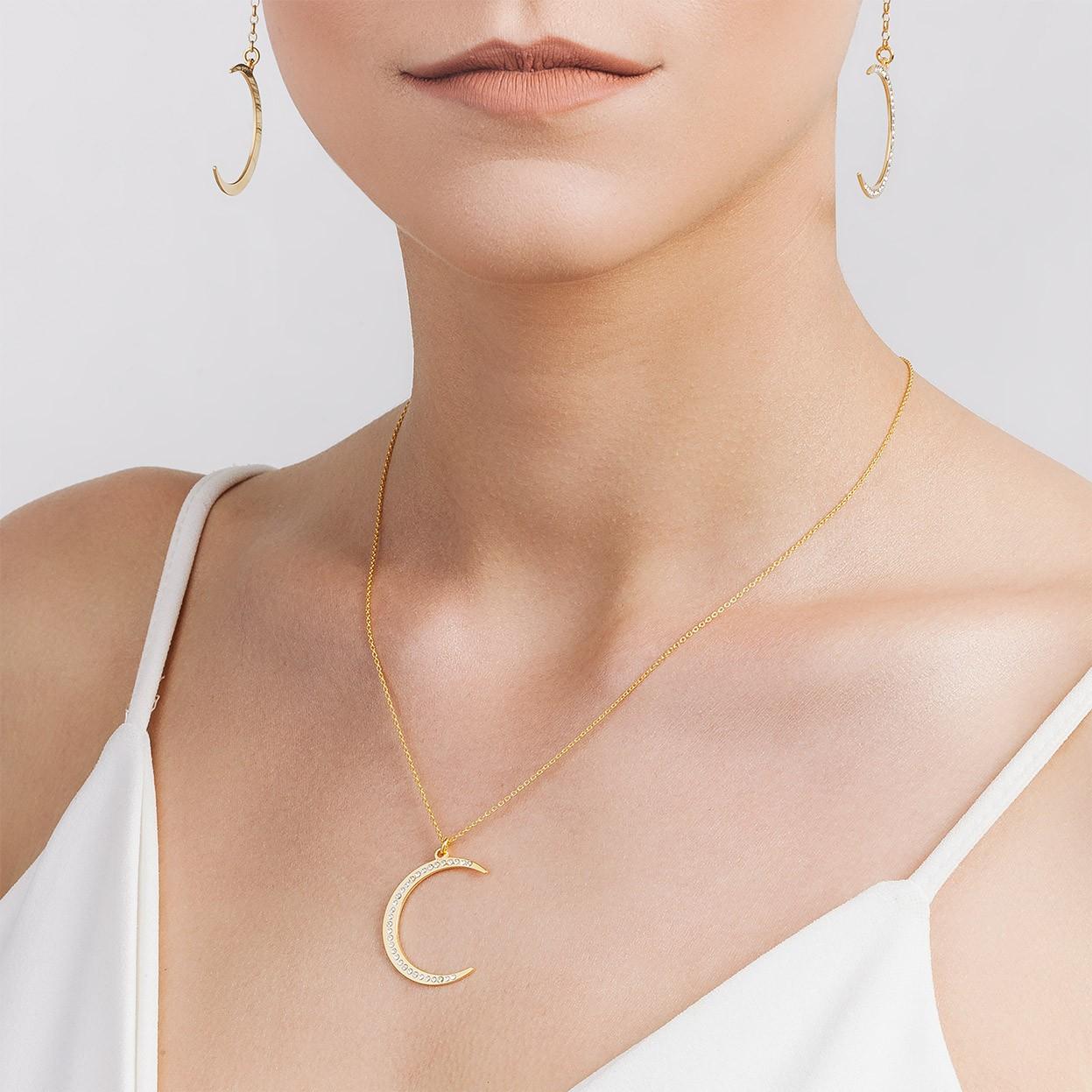 Swarovski stern medaillon halskette silber
