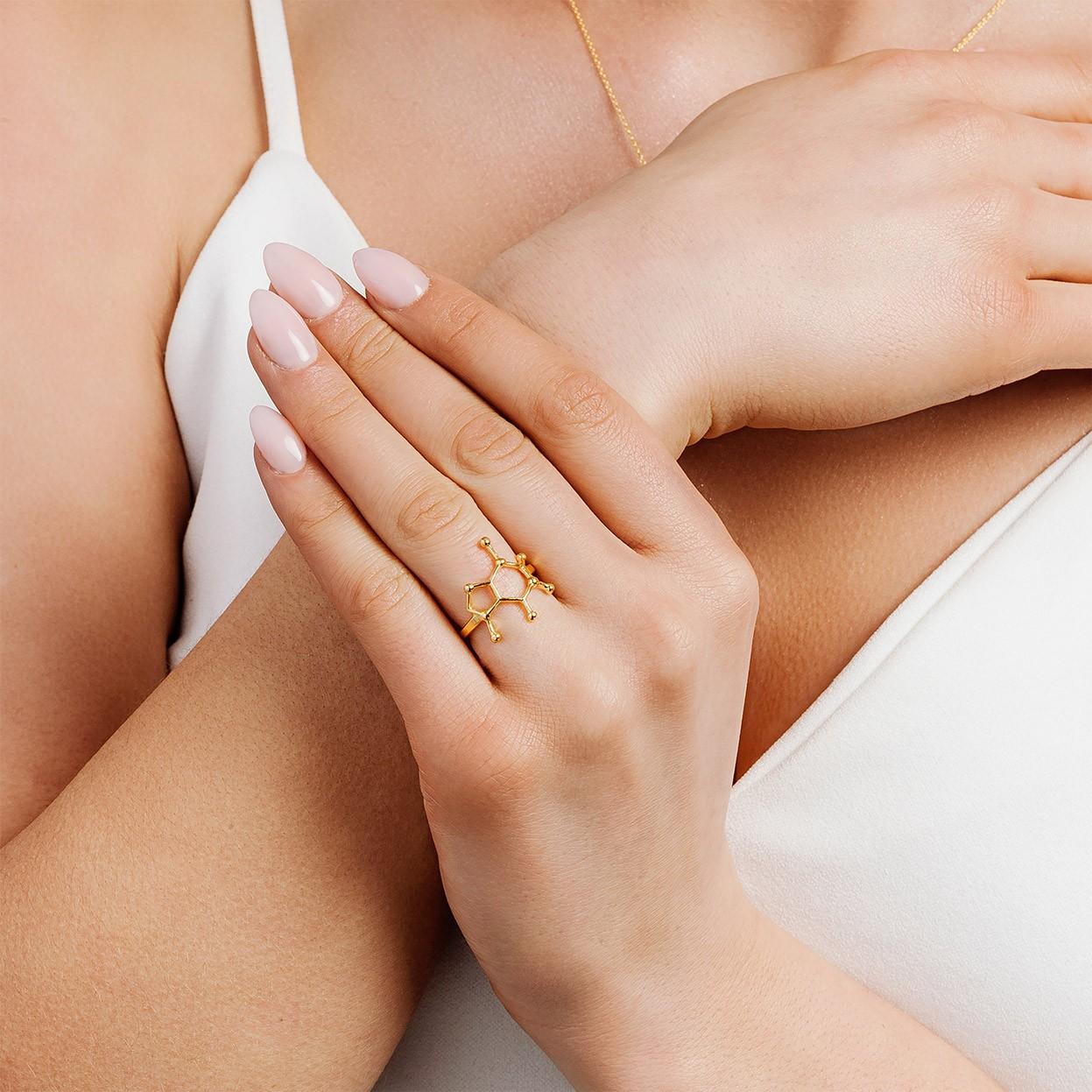 Srebrny pierścionek KOFEINA 925