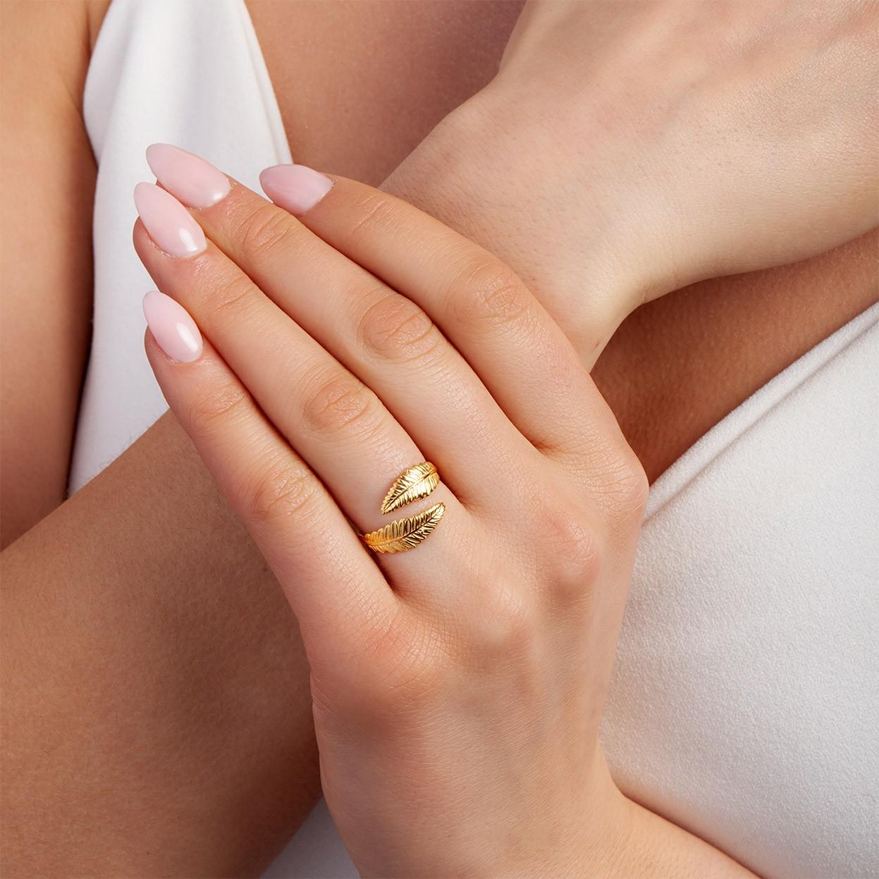 Srebrny pierścionek SKRZYDŁO ANIOŁA 925