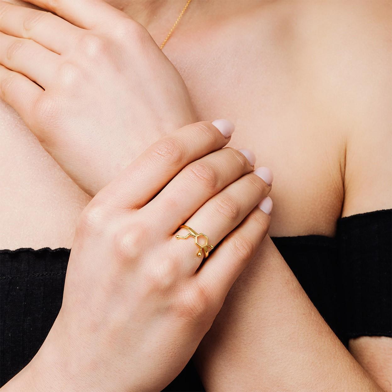 Srebrny pierścionek DOPAMINA 925