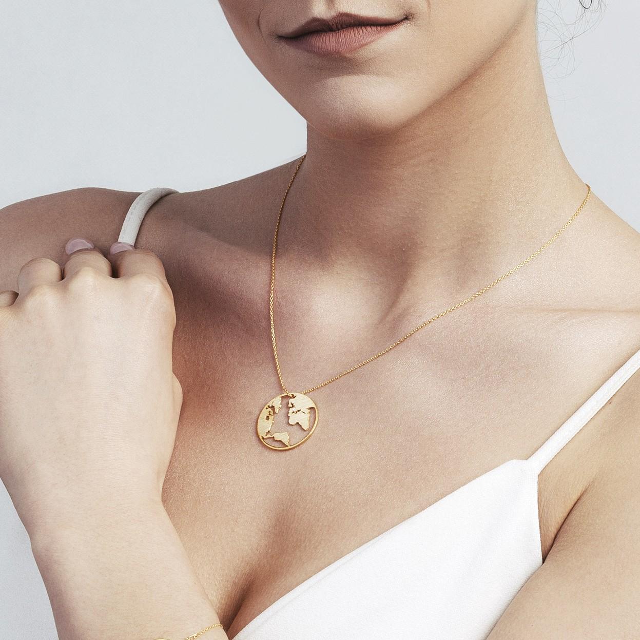 MON DÉFI Necklace - Globe, Silver 925