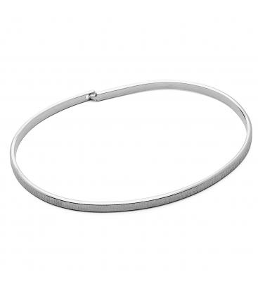 Satynowana sztywna bransoletka srebro 925