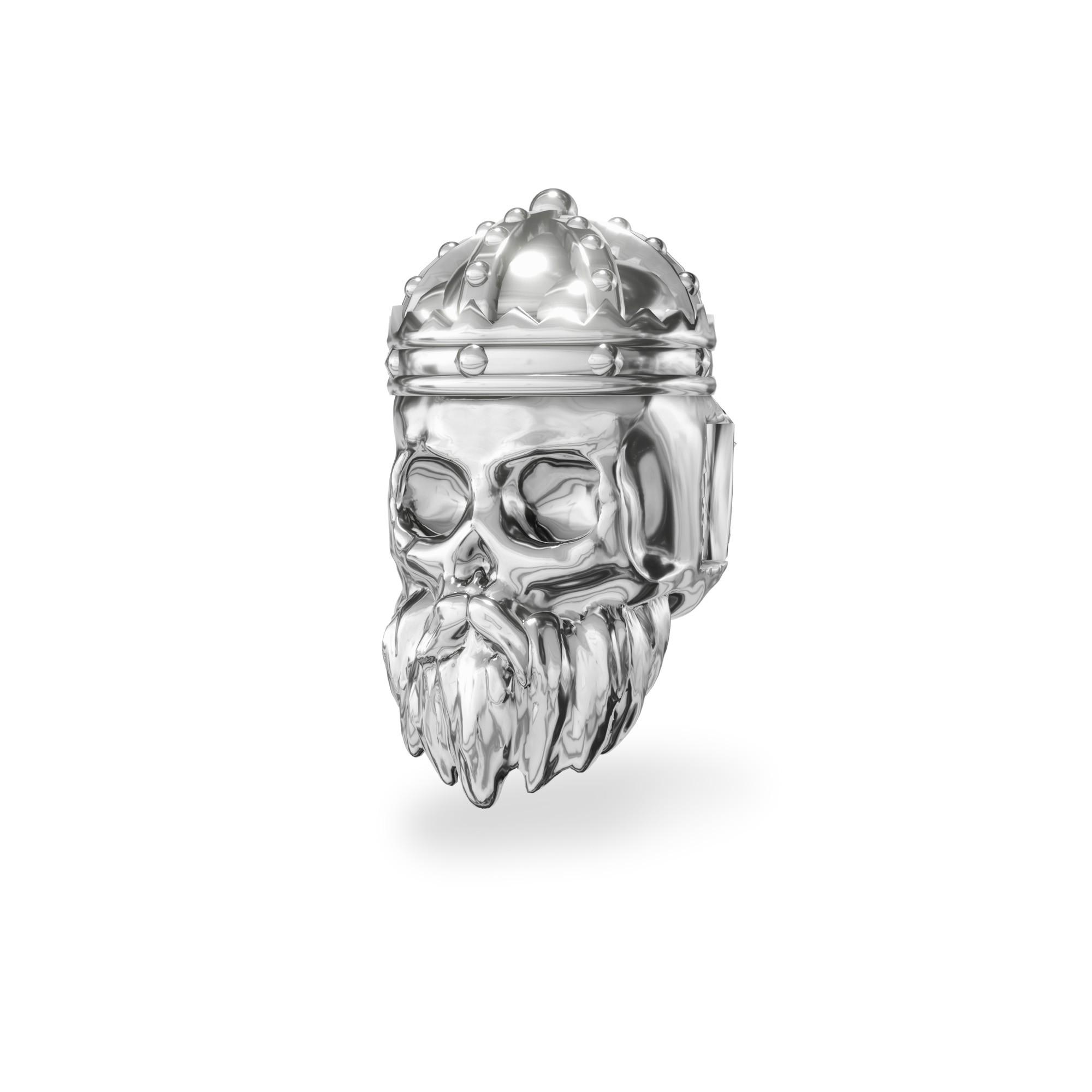 Silver spacer SKULL beads 925