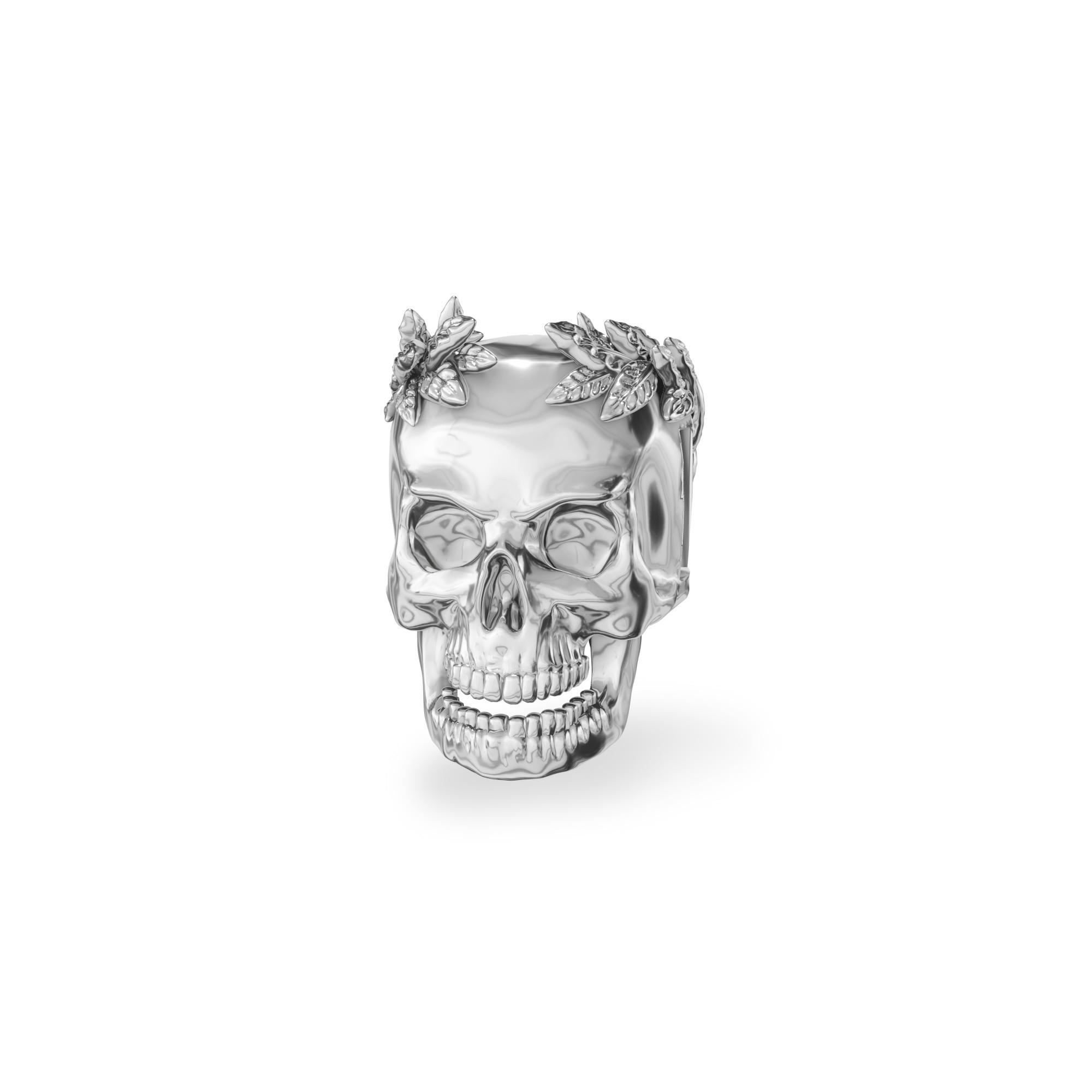 Srebrny beads przekładka CZASZKA Cezara srebro 925