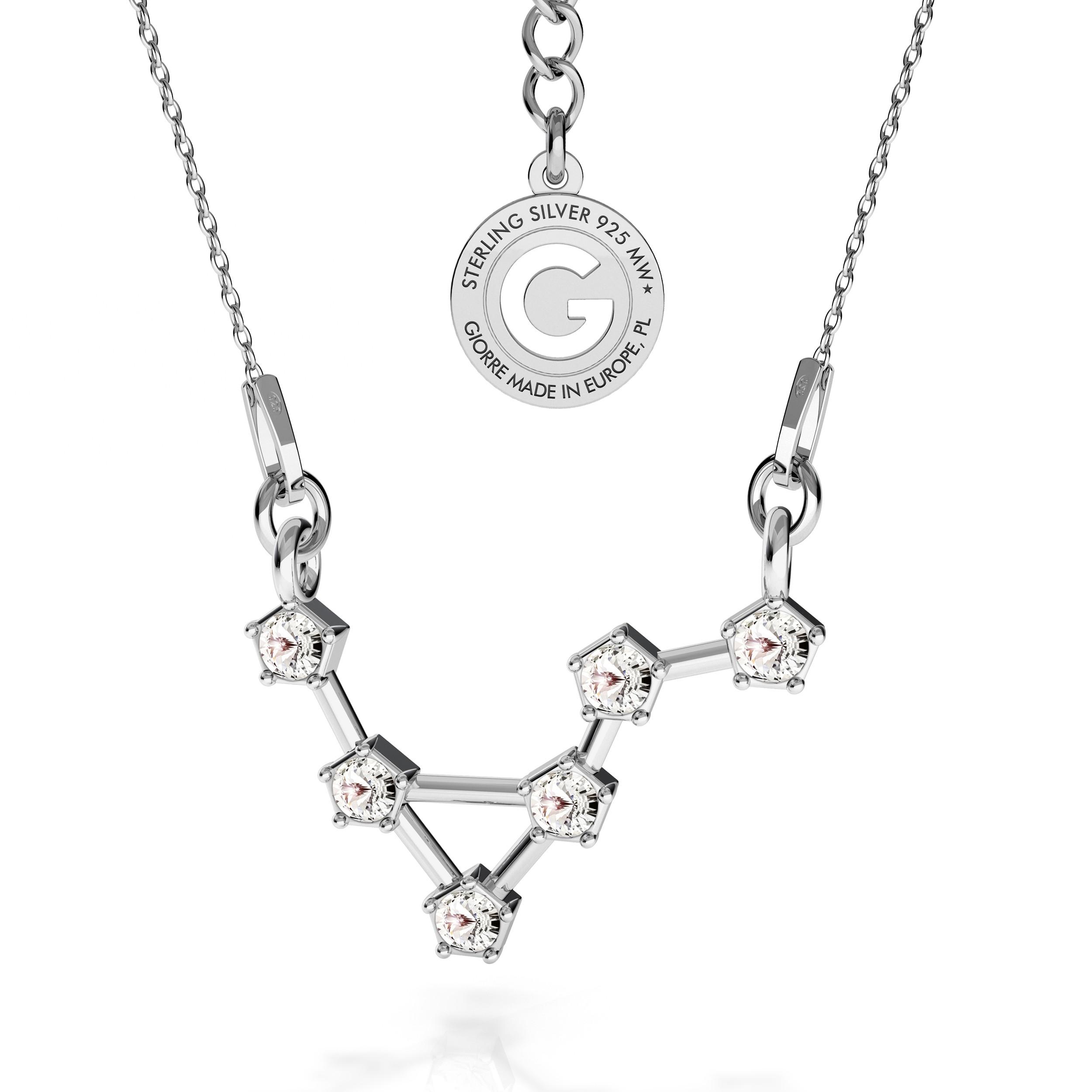 LIBRA signo del zodiaco collar plata 925 Swarovski