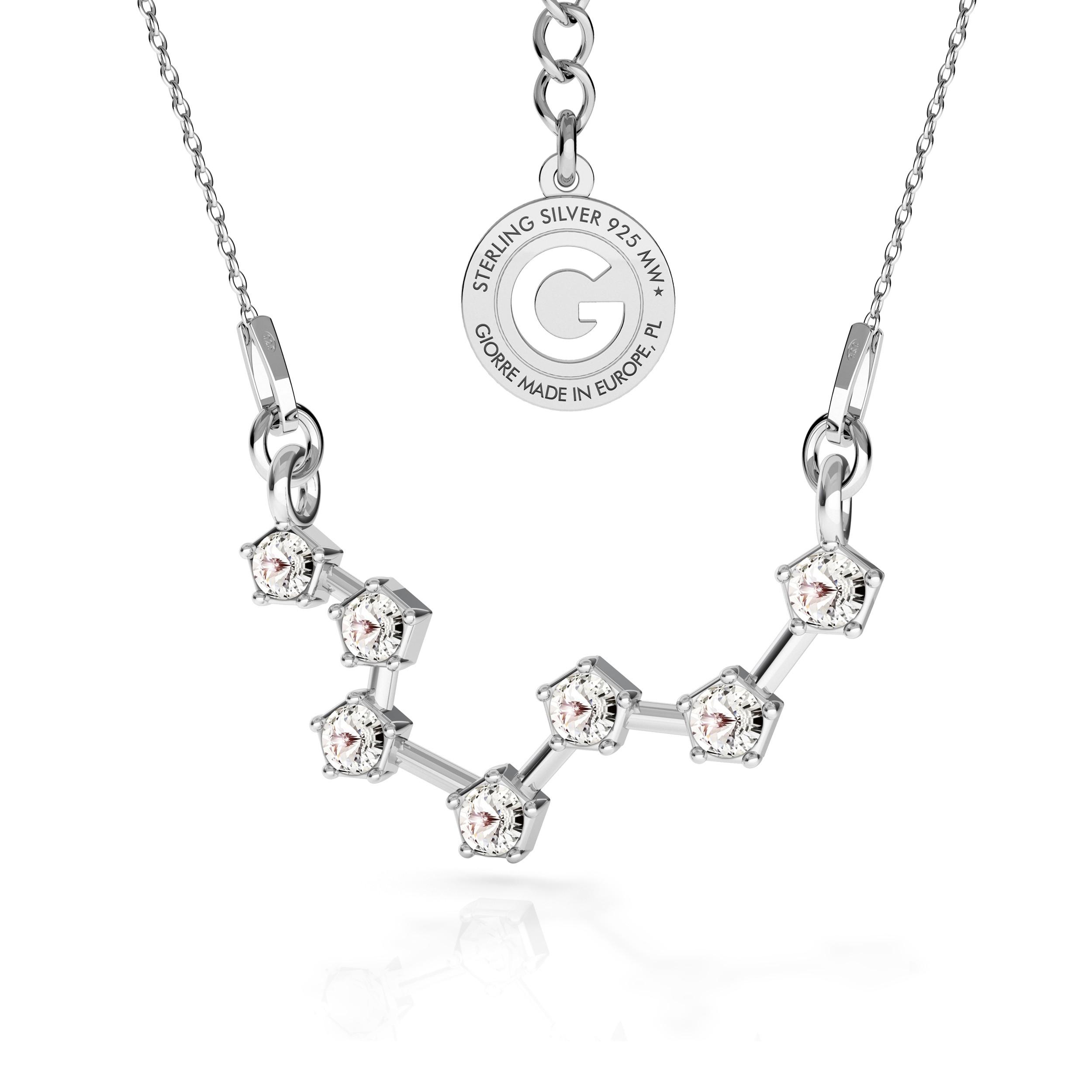 PISCIS signo del zodiaco collar plata 925 Swarovski