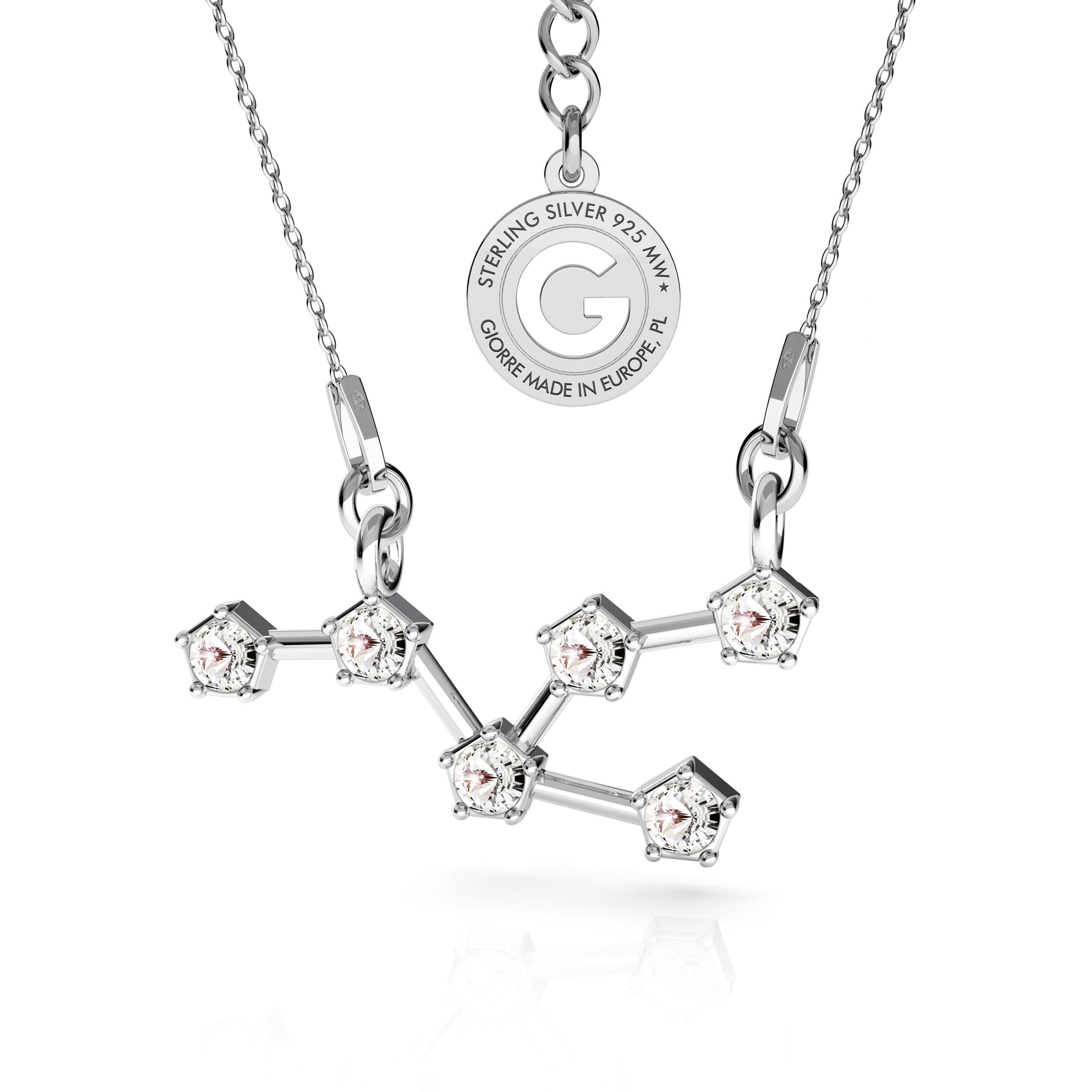 BYK srebrny naszyjnik zodiak z kryształami Swarovskiego 925