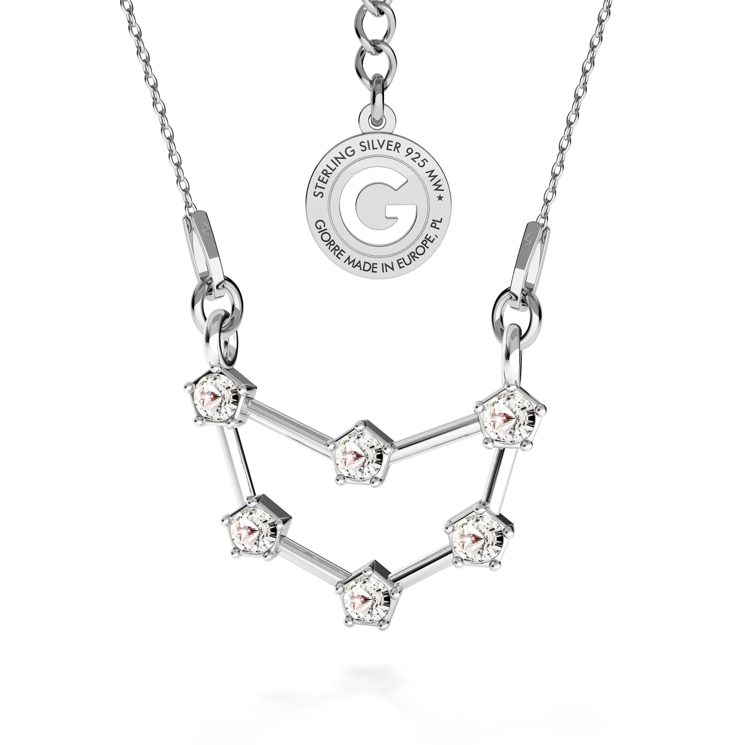 CAPRICORNIO signo del zodiaco collar plata 925 Swarovski