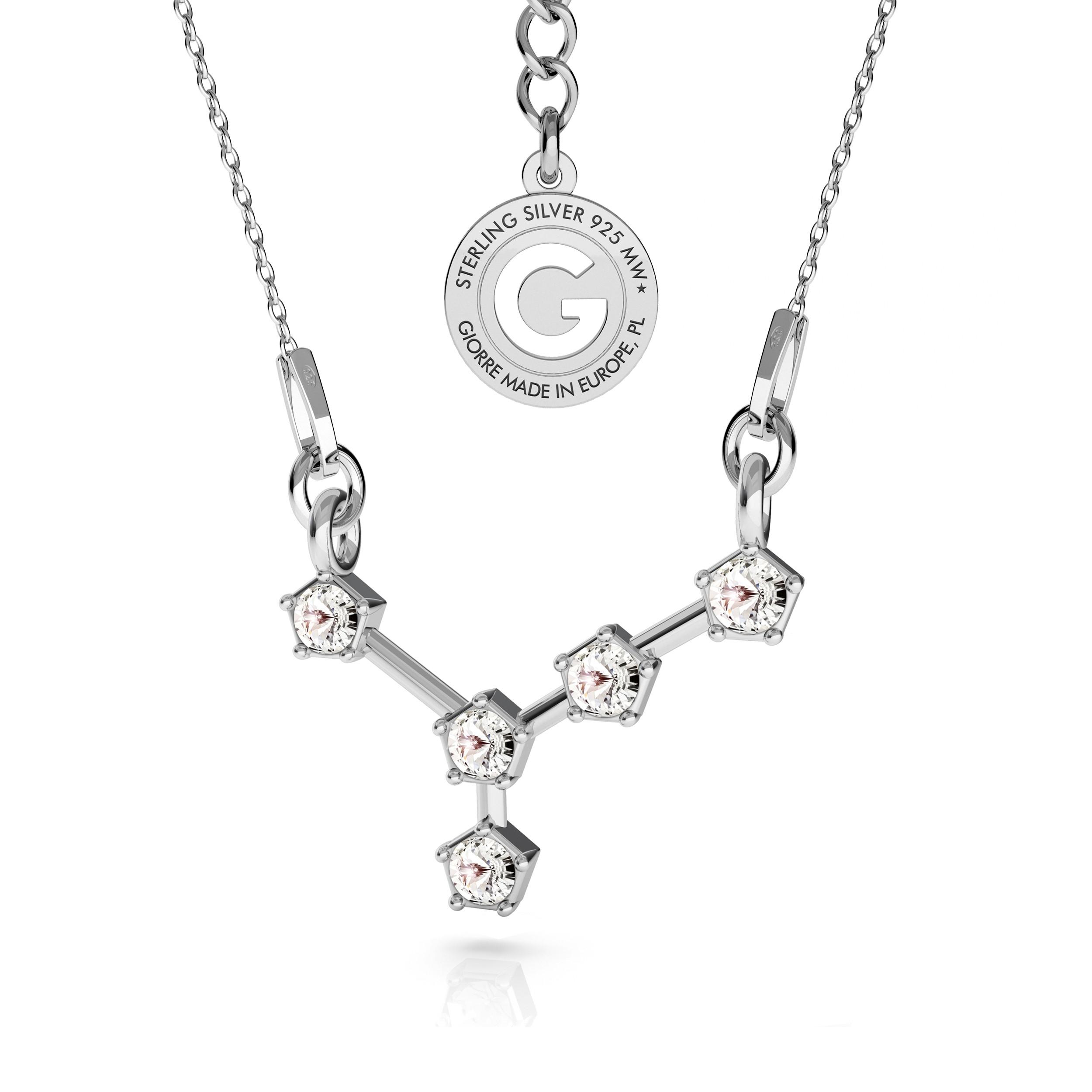 RAK srebrny naszyjnik zodiak z kryształami Swarovskiego 925