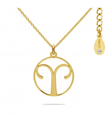 Aries zodiac sign necklace with Swarovski Crystals sterling silver 925