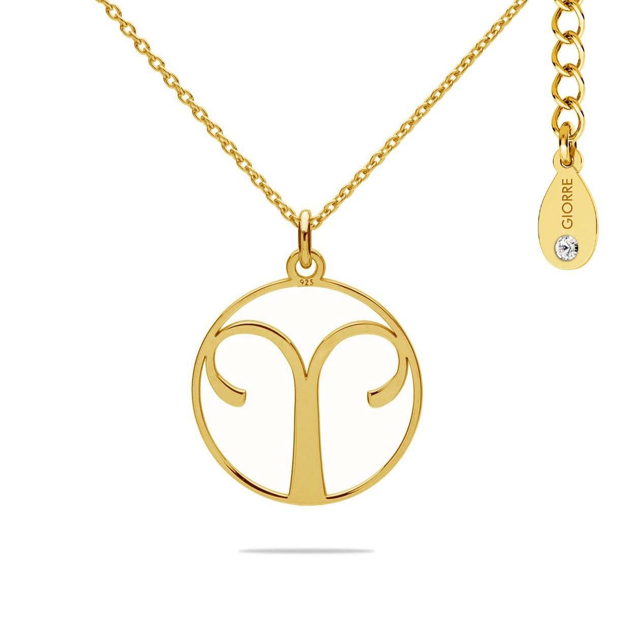 Naszyjnik znak zodiaku BARAN 925 celebrytka