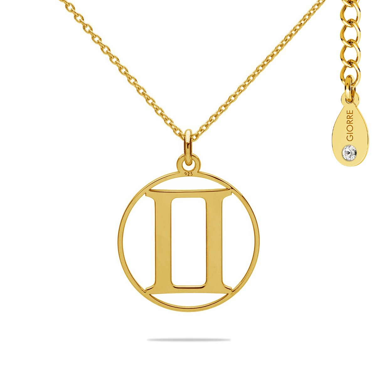 Naszyjnik znak zodiaku BLIŹNIĘTA 925 celebrytka