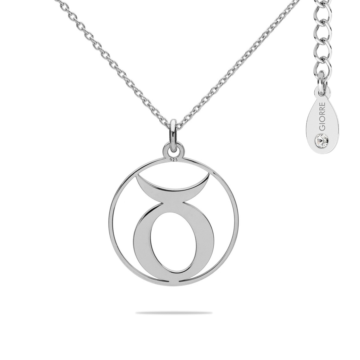 TAURUS zodiac sign necklace with Swarovski Crystals sterling silver 925