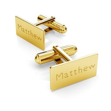 RECTANGLE CUFFLINKS WITH ENGRAVE