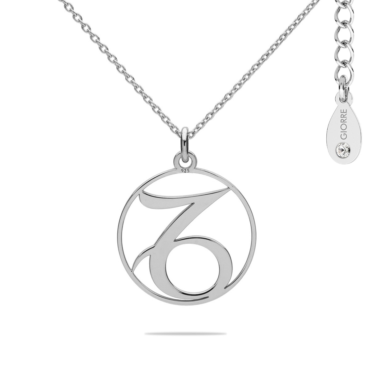 CAPRICORN zodiac sign necklace with Swarovski Crystals sterling silver 925