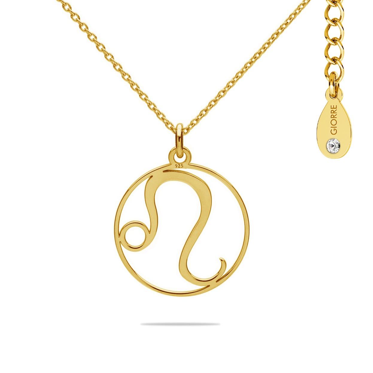 Naszyjnik znak zodiaku LEW 925 celebrytka