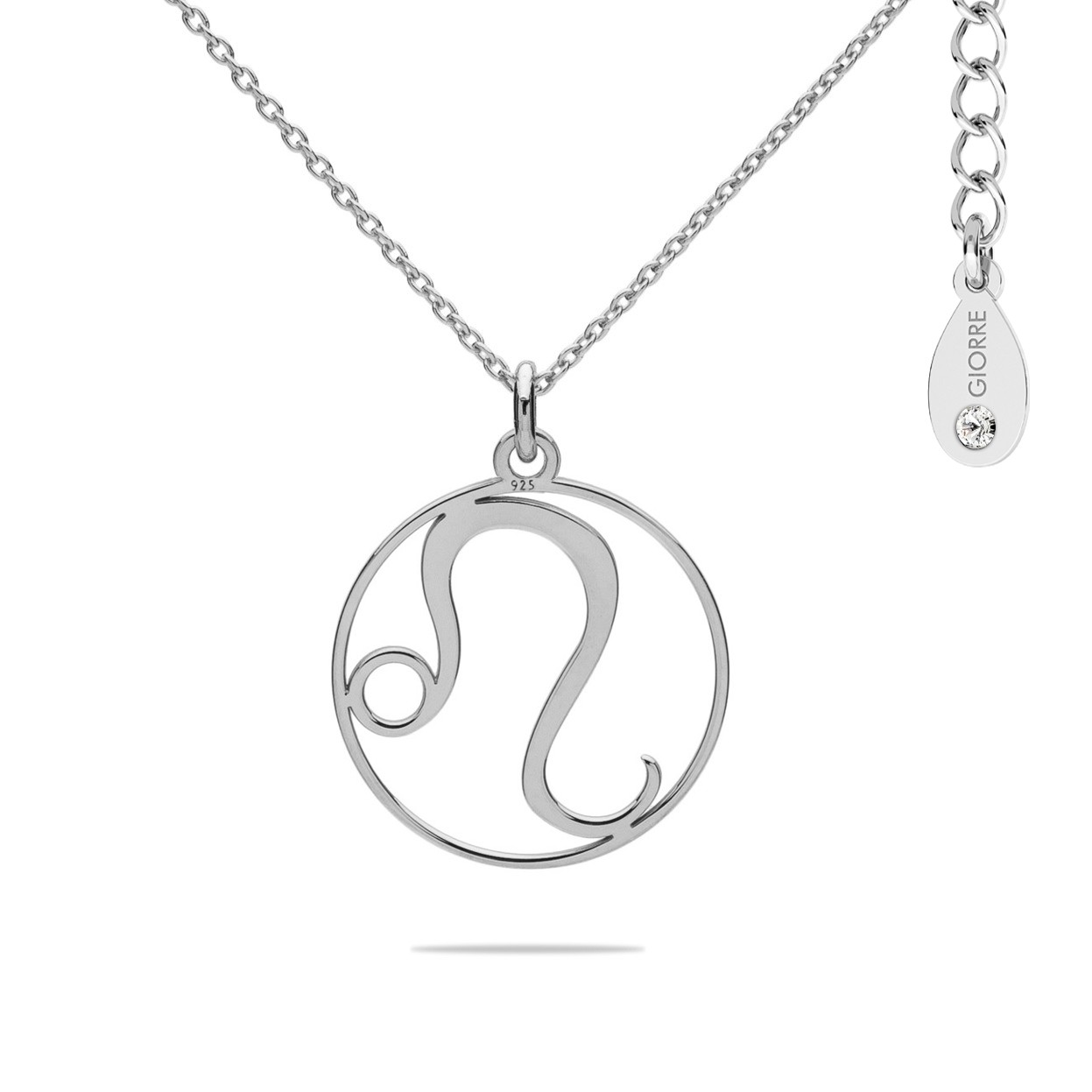 LION zodiac sign necklace with Swarovski Crystals sterling silver 925