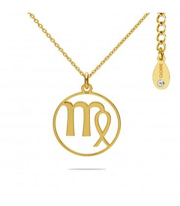 Naszyjnik znak zodiaku - panna z kryształem Swarovskiego, srebro 925
