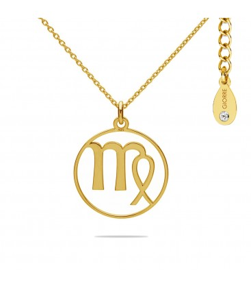 VIRGO zodiac sign necklace with Swarovski Crystals sterling silver 925