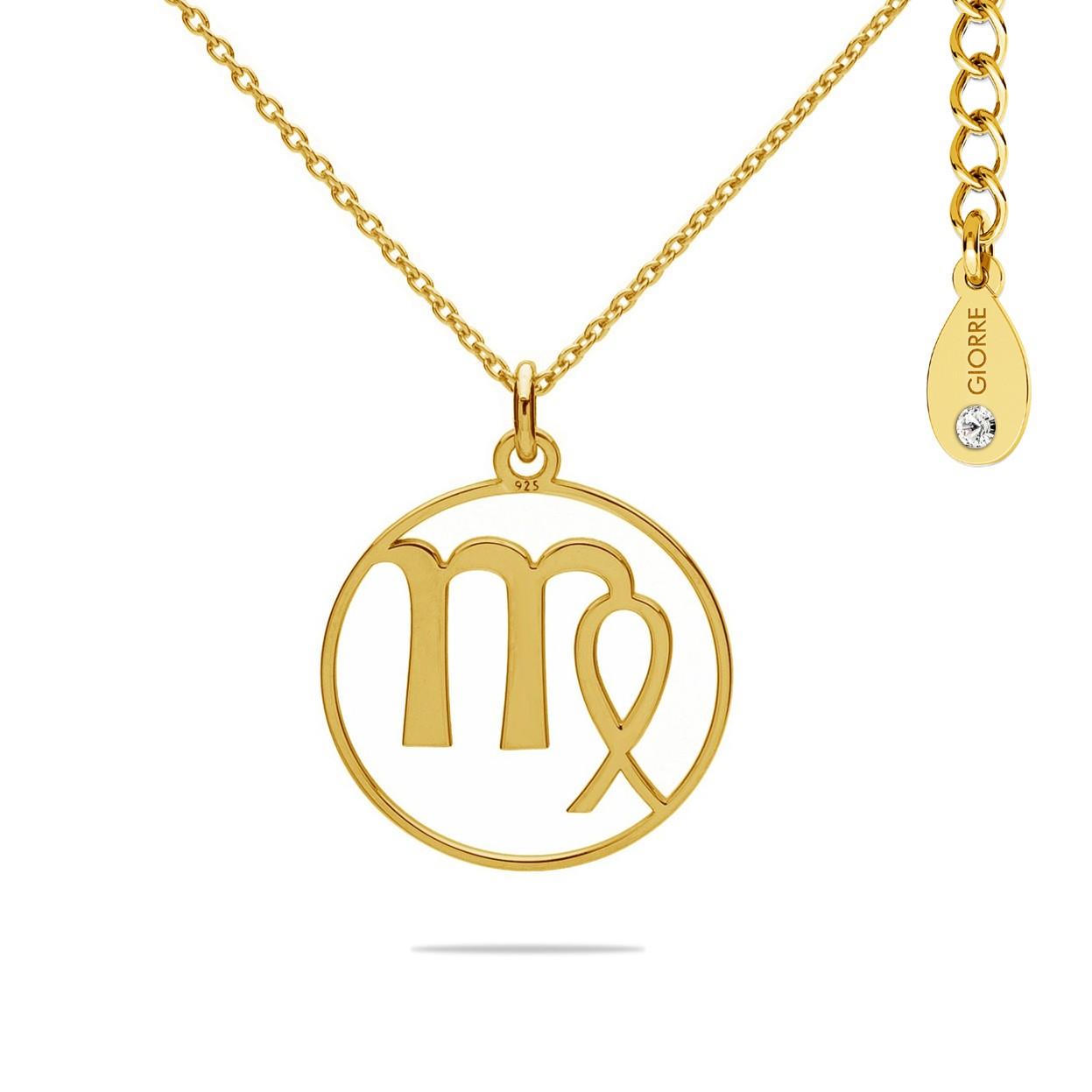 VIRGO zodiac sign necklace with Swarovski Crystals sterling silver 925