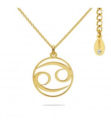 Naszyjnik znak zodiaku - rak z kryształem Swarovskiego, srebro 925