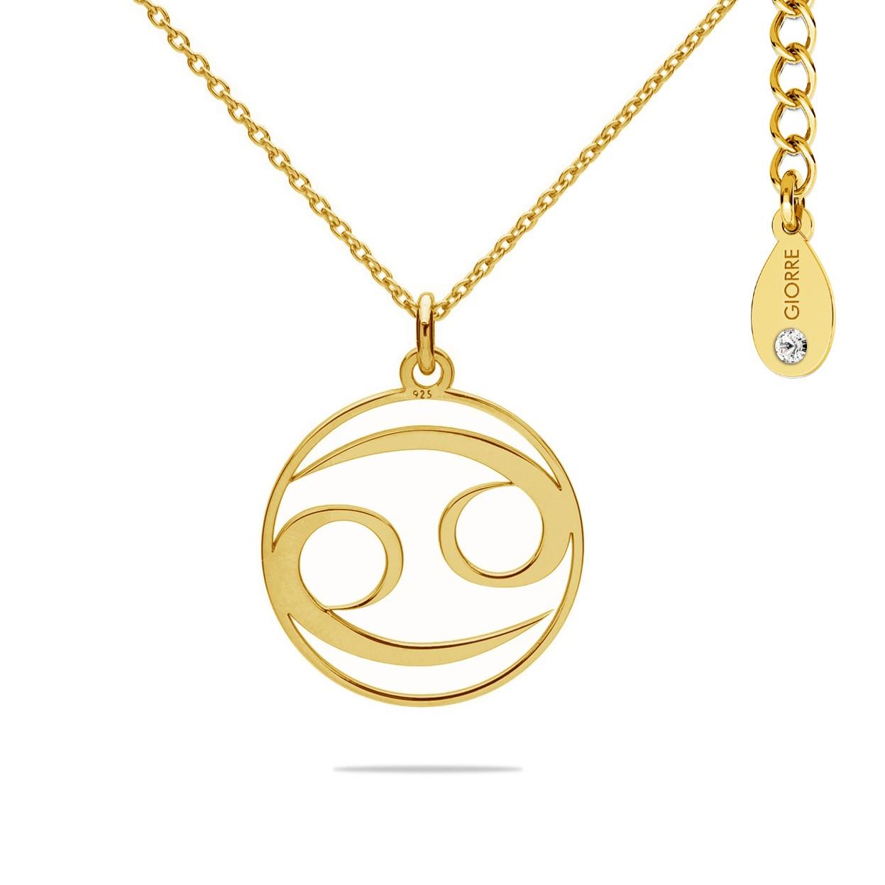 Naszyjnik znak zodiaku RAK 925 celebrytka