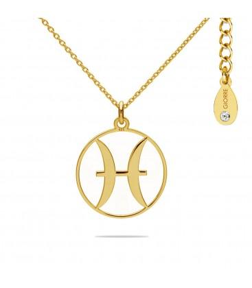 Naszyjnik znak zodiaku - ryby z kryształem Swarovskiego, srebro 925