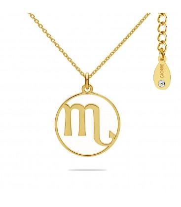 Naszyjnik znak zodiaku - skorpion z kryształem Swarovskiego, srebro 925