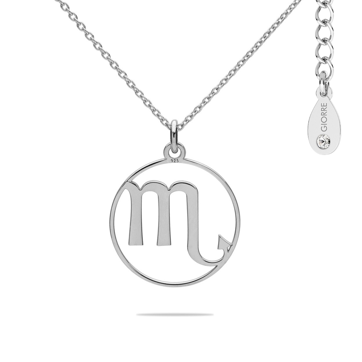 SCORPION zodiac sign necklace with Swarovski Crystals sterling silver 925