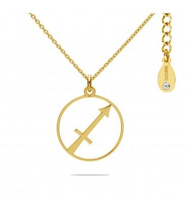Naszyjnik znak zodiaku - strzelec z kryształem Swarovskiego, srebro 925
