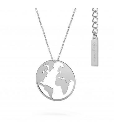 Globe collier argent 925