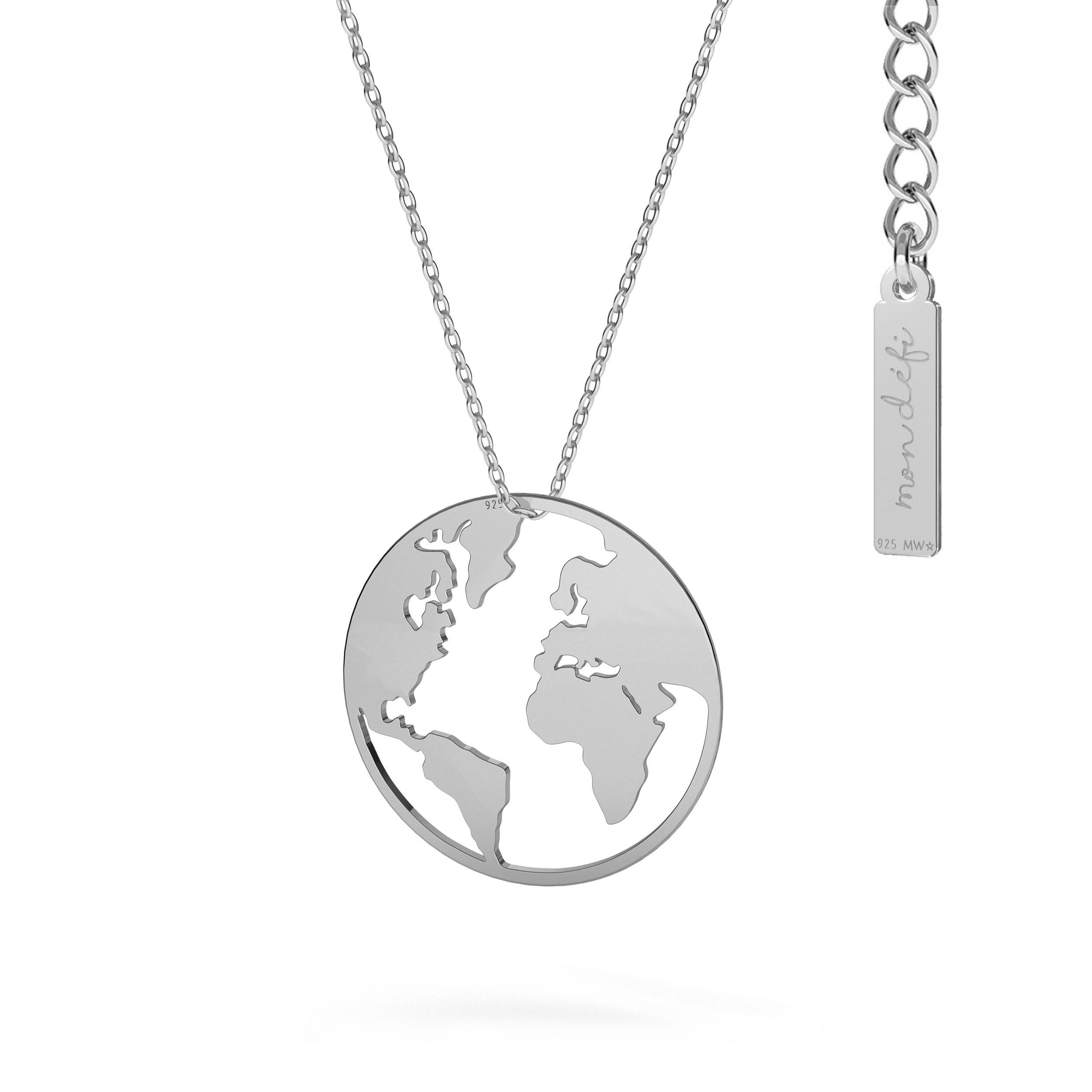 GLOBE necklace MON DÉFI sterling silver 925