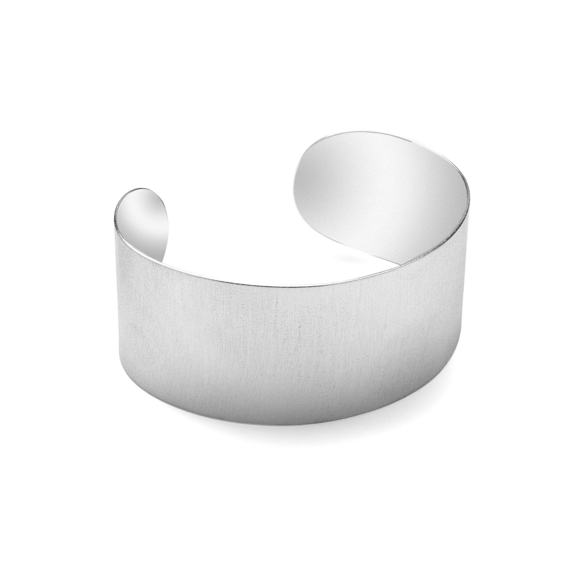 Szeroka satynowana bransoletka srebro 925