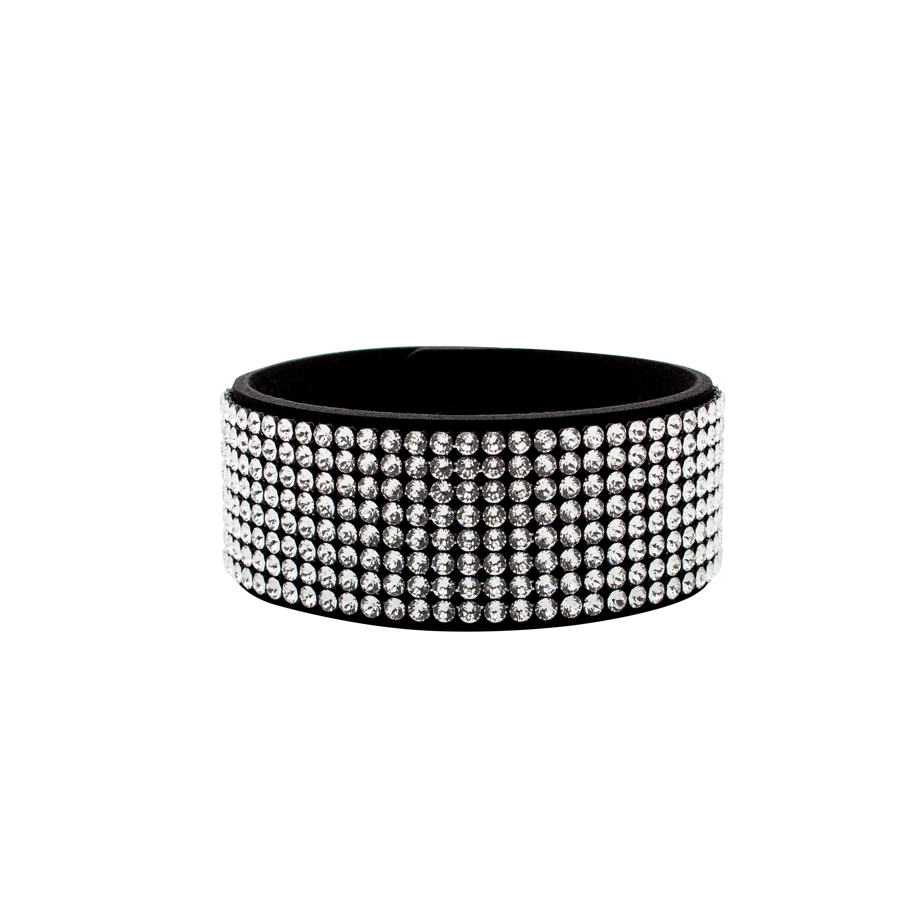 MESH BRACELET 8 ROWS WITH SWAROVSKI CRYSTALS 8R