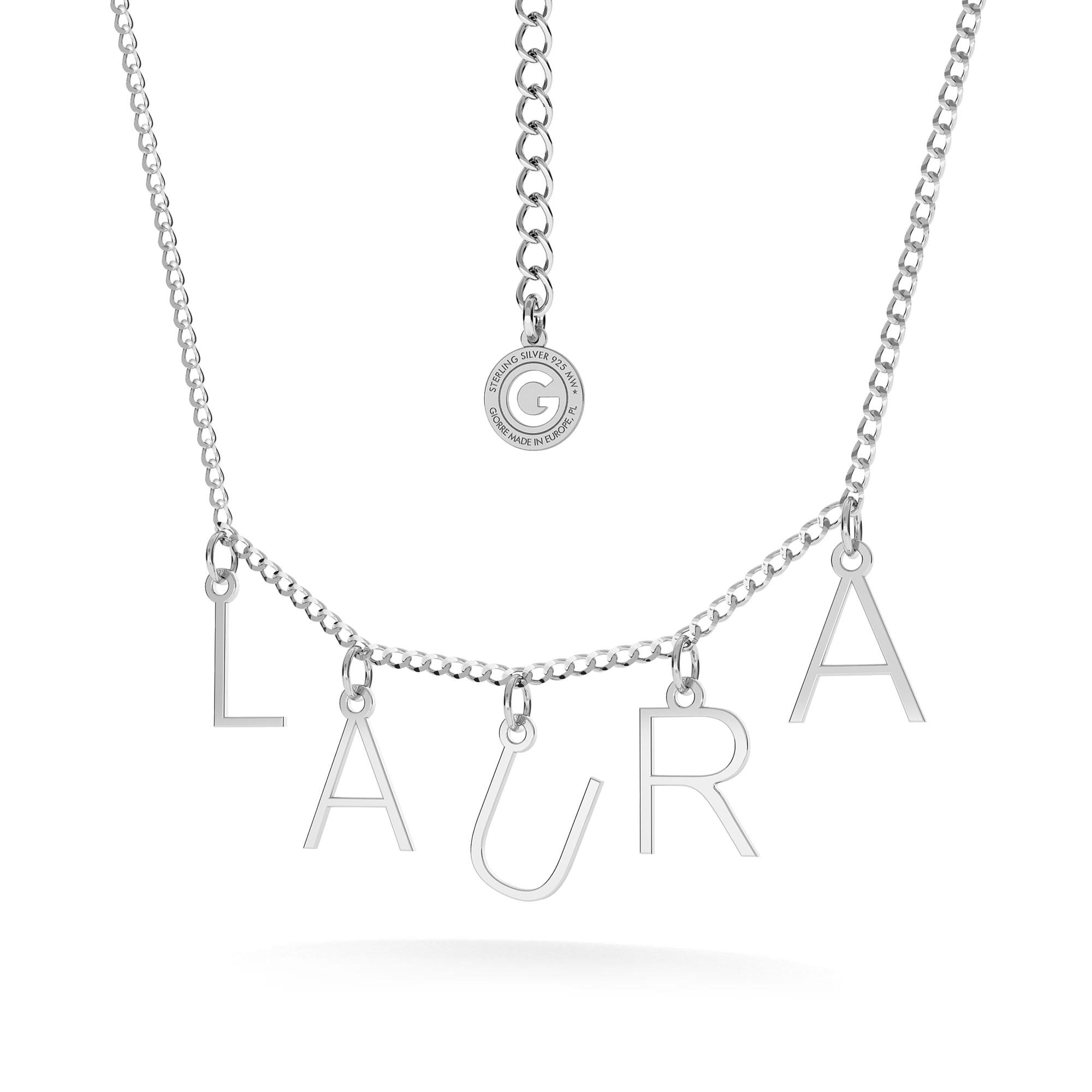 Nasyzjnik z LITERKAMI personalizowany srebro 925